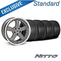 Shelby Razor Gunmetal Wheel & NITTO INVO Tire Kit - 20x9 (05-14 GT, V6) - Shelby 27224||79524||KIT