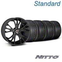 Shelby CS1 Matte Black Wheel & NITTO INVO Tire Kit - 20x9 (05-14 All) - Shelby 33906||79524||KIT