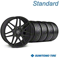 Forgestar F14 Monoblock Textured Black Wheel & Sumitomo Tire Kit - 20x9 (05-14) - American Muscle Wheels KIT||29624