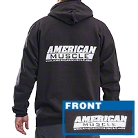 AmericanMuscle Sweatshirt - Black - AM Accessories SWEAT-BK-L
