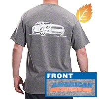 AmericanMuscle S197 T-Shirt - Gray