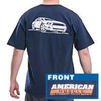 AmericanMuscle S197 T-Shirt - Navy
