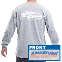AmericanMuscle S197 Long Sleeve T-Shirt - Gray