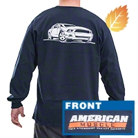 AmericanMuscle S197 Long Sleeve T-Shirt - Navy