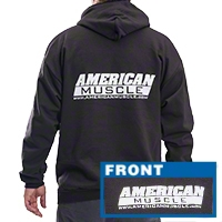 American Muscle Sweatshirt - Black (2X-Large) - AM Accessories 36150-E