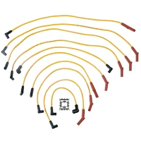 Accel Super Stock 8mm Spark Plug Wires - Yellow (79-85 5.0L) - Accel 4069