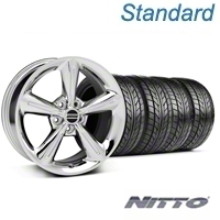 Chrome 2010 OE Style Wheel & NITTO Tire Kit - 18x8 (05-14 All) - AmericanMuscle Wheels KIT 28254||76031