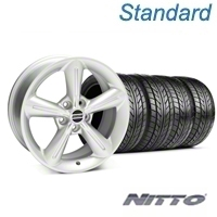 Silver 2010 OE Style Wheel & NITTO Tire Kit - 18x8 (05-14 All) - AmericanMuscle Wheels KIT 28255||76031