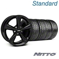 Black 2010 OE Style Wheel & NITTO Tire Kit - 18x8 (05-14 All) - AmericanMuscle Wheels KIT 28253||76031