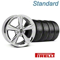 Chrome 2010 OE Style Wheel & Pirelli Tire Kit - 18x8 (05-14 V6, GT) - AmericanMuscle Wheels KIT 28254||63104