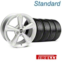Silver 2010 OE Style Wheel & Pirelli Tire Kit - 18x8 (05-14 GT, V6) - AmericanMuscle Wheels KIT 28255||63104