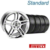 2010 GT500 Style Chrome Wheel & Pirelli Tire Kit - 19x8.5 (05-14 All) - American Muscle Wheels 63101||KIT 28237