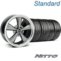 Bullitt Anthracite Wheel & NITTO Tire Kit - 18x8 (05-14 GT, V6) - American Muscle Wheels 76031||KIT 28315