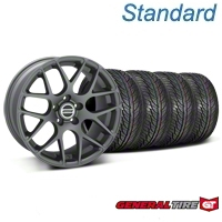 Charcoal AMR Wheel & General Tire Kit - 19x8.5 (05-14 All) - AmericanMuscle Wheels KIT28336||63106