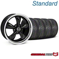 Bullitt Black Wheel & General Tire Kit - 19x8.5 (05-14 All) - American Muscle Wheels 63106||KIT28247