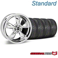 Chrome Bullitt Wheel & General Tire Kit - 19x8.5 (05-14 All) - AmericanMuscle Wheels KIT28249||63106