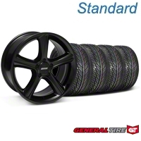 Black 2010 Style GT Premium Wheel & GeneralTire Kit - 19x8.5 (05-14 All) - AmericanMuscle Wheels KIT28230||63106