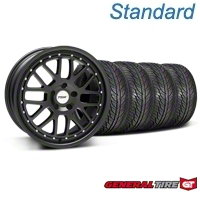 Matte Black TSW Valencia Wheel & General Tire Kit - 19x8 (05-14 All) - TSW KIT||33613||63106