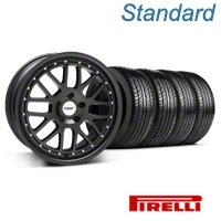 TSW Valencia Matte Black Wheel & Pirelli Tire Kit - 19x8 (05-14) - TSW 33613||63101||KIT