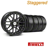 Staggered Matte Black TSW Valencia Wheel & Pirelli Tire Kit - 19x8/9.5 (05-14 GT, V6) - TSW KIT||33613||33614||63101||63102
