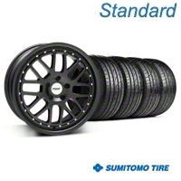 TSW Valencia Matte Black Wheel & Sumitomo Tire Kit - 19x8 (05-14 All) - TSW 33613||63036||KIT