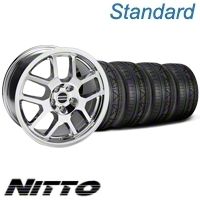 Chrome 2007 GT500 Mustang Wheel & NITTO Invo Tire Kit - 18x9.5 (05-13 All) - American Muscle Wheels 79523||KIT28045