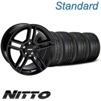 Black 2010 GT500 Mustang Wheel & NITTO Invo Tire Kit -18x9 (05-13 All) - American Muscle Wheels 79523||KIT28219