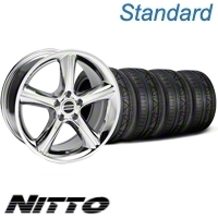Chrome 2010 GT Premium Mustang Wheel& NITTO Invo Tire Kit - 18x9 (05-13 All) - American Muscle Wheels 79523||KIT28211