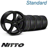 Black 2010 GT Premium Style Mustang Wheel & NITTO Invo Tire Kit - 18x9 (05-13 All)