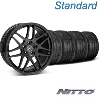 Forgestar F14 Monoblock Piano Black Wheel & NITTO INVO Tire Kit - 18x9 (05-14 All) - Forgestar 29622||79522||KIT