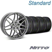 Forgestar F14 Monoblock Gunmetal Wheel & NITTO INVO Tire Kit - 18x9 (05-14 All) - Forgestar 29614||79522||KIT
