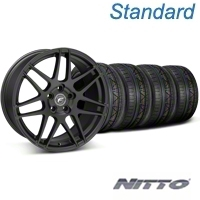 Forgestar F14 Monoblock Matte Black Wheel & NITTO INVO Tire Kit - 18x9 (05-14 All) - Forgestar 29606||79522||KIT