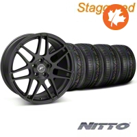 Forgestar Staggered F14 Monoblock Matte Black Wheel & NITTO INVO Tire Kit - 20x9/11 (05-14 All) - Forgestar KIT