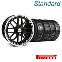Black w/ Polished Lip TSW Valencia Wheel & Pirelli Tire Kit - 19x8 (05-14 All) - TSW KIT||33625||63101