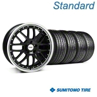 Black w/ Polished Lip TSW Valencia Wheel & Sumitomo Tire Kit - 20x8.5 (05-14 GT, V6) - TSW KIT||33627||63024