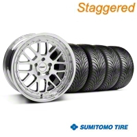 Staggered Chrome TSW Valencia Wheel & Sumitomo Tire Kit - 18x8/9.5 (94-04 All) - TSW KIT||33778||33779||63016||63029