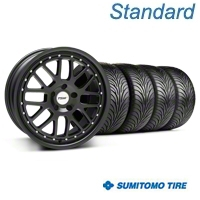 Matte Black TSW Valencia Wheel & Sumitomo Tire Kit - 18x8 (94-98 All) - TSW KIT||33621||63029