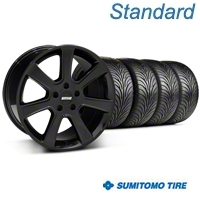 Black S197 Saleen Style Wheel & Sumitomo Tire Kit - 18x9 (94-98 All) - AmericanMuscle Wheels KIT||28357||63005