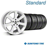 Silver S197 Saleen Style Wheel & Sumitomo Tire Kit - 18x9 (05-14 All) - AmericanMuscle Wheels KIT||28356||63008