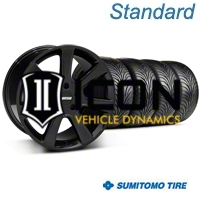 Black S197 Saleen Style Wheel & Sumitomo Tire Kit - 18x9 (05-14 All) - AmericanMuscle Wheels KIT||28357||63008