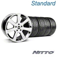 Chrome S197 Saleen Style Wheel & Nitto Tire Kit - 20x9 (05-14 All) - AmericanMuscle Wheels KIT||28361||76005