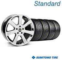 Chrome S197 Saleen Style Wheel & Sumitomo Tire Kit - 20x9 (05-14 All) - AmericanMuscle Wheels KIT||28361||63024