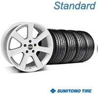 Silver S197 Saleen Style Wheel & Sumitomo Tire Kit - 20x9 (05-14 All) - AmericanMuscle Wheels KIT||28362||63024