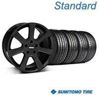 Black S197 Saleen Style Wheel & Sumitomo Tire Kit - 20x9 (05-14 All) - AmericanMuscle Wheels KIT||28363||63024