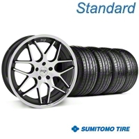 Black Machined Niche Mugello Wheel & Sumitomo Tire Kit - 20x8.5 (05-14 All) - Niche KIT||32830||63024