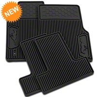 Ford Rubber Floor Mats w/ Pony Logo (05-09 All) - Ford 6R3Z6313300A