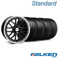 Black w/ Polished Lip TSW Valencia Wheel & Falken Tire Kit - 18x8 (99-04 All) - American Muscle Wheels KIT||mb1||79560||33623