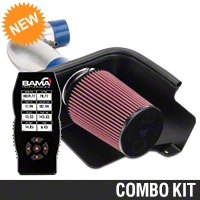 C&L Cold Air Intake w/ 83mm MAF & Bama X4 Tuner (05-09 V6) - Bama 384020