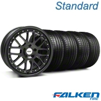 TSW Valencia Matte Black Wheel & Falken Tire Kit - 18x8 (99-04 All) - TSW KIT||mb1||79560||33621