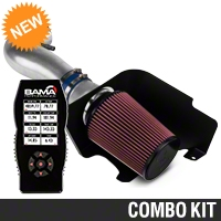 C&L Cold Air Intake w/ 83mm MAF & Bama X4 Tuner (10 V6) - Bama 384035